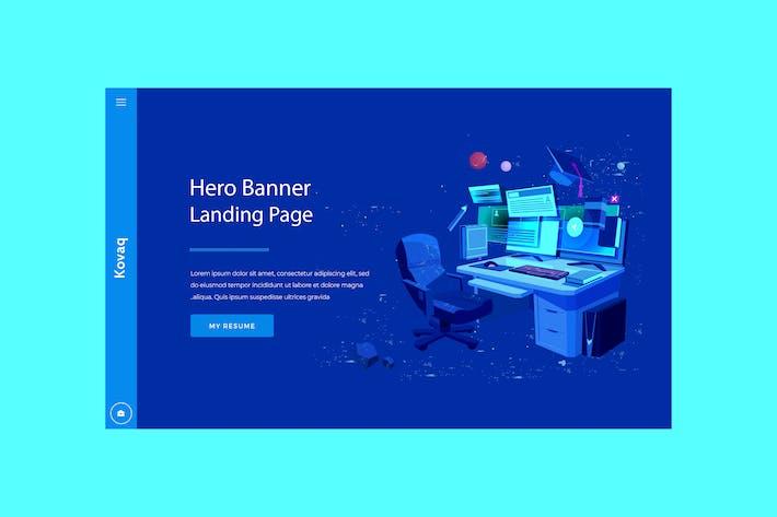 Thumbnail for Kovaq - Hero Banner Template
