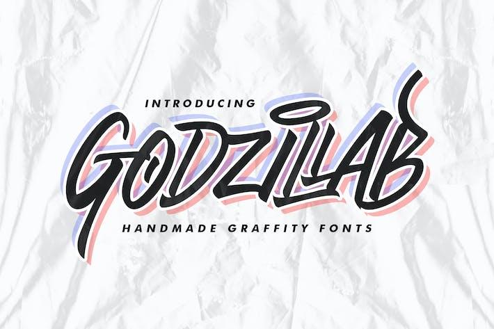 Godzillab - Ручной Граффити Шрифт