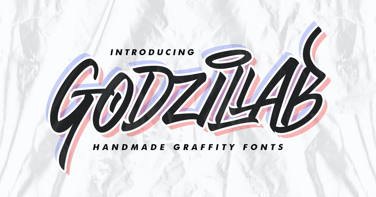 Download Godzillab - Handmade Graffity Font by Macademia