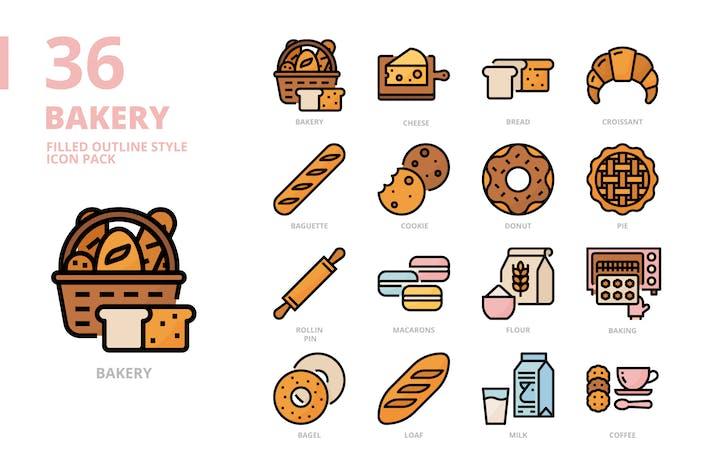 Пекарня заполненный контур