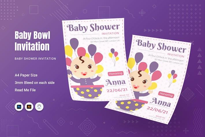 Baby Bowl Baby Shower Invitation