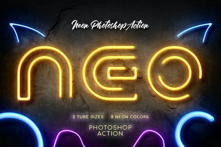 Thumbnail for Néon Photoshop Action