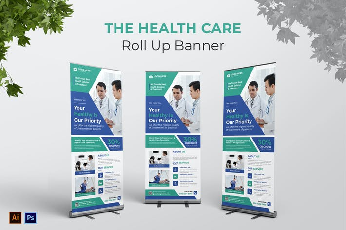 Thumbnail for Roll Up Banner des Gesundheitswesens