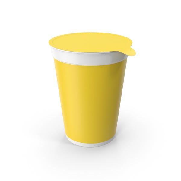 Yogurt Cup Yellow