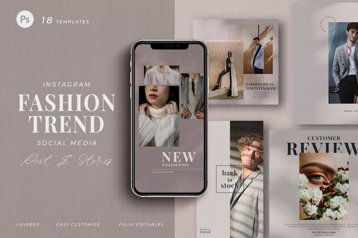 Thumbnail for fashion trend - social media pack instagram Earthy