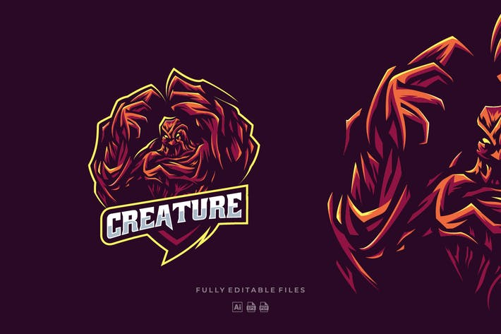 Thumbnail for Tree Monster Creature Sports and E-sports Logo