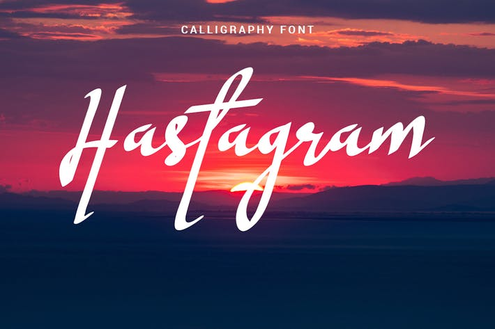 Thumbnail for Hastagram - Fuente de caligrafía