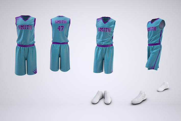 Basketball Uniform Jersey and Shorts Mock-Up