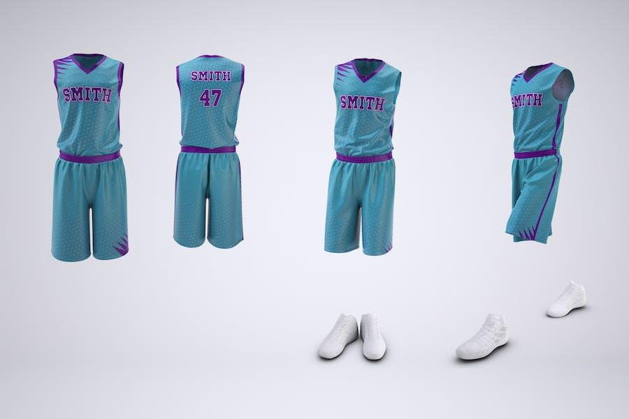 Basketball Uniform Jersey and Shorts Mock-Up