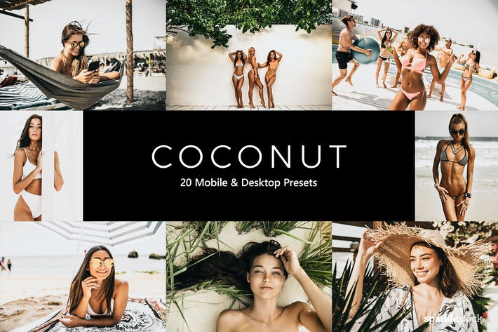 Thumbnail for 20 Coconut Lightroom Presets & LUTs