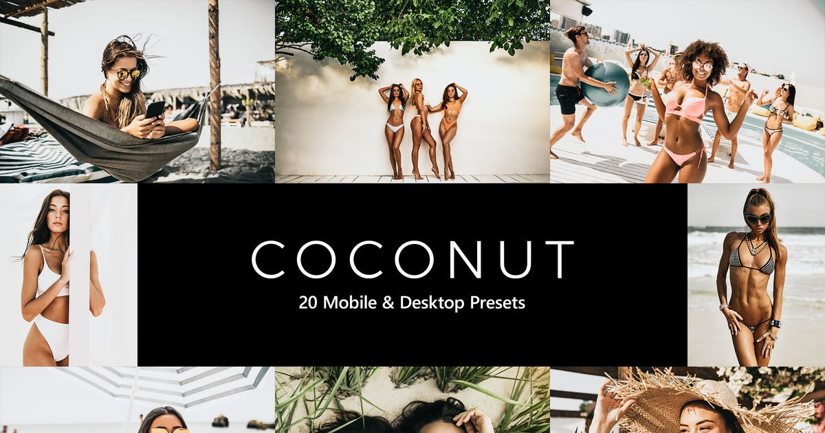 Download 20 Coconut Lightroom Presets & LUTs by sparklestock