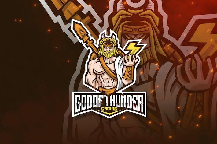 Thumbnail for God of Thunder Logo Template