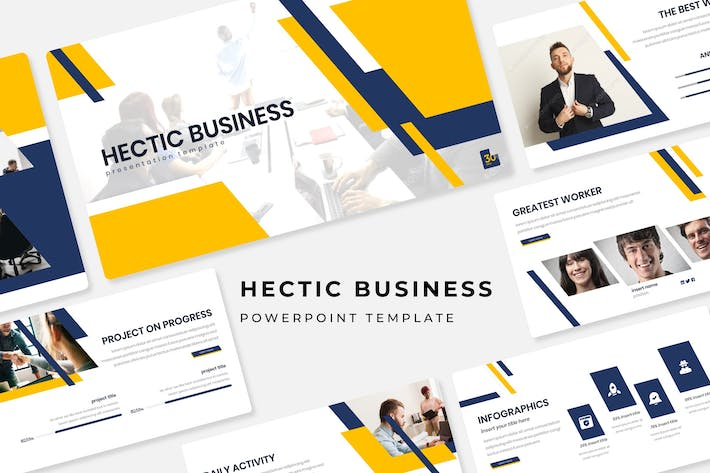 Thumbnail for Hectic Business - Powerpoint Template