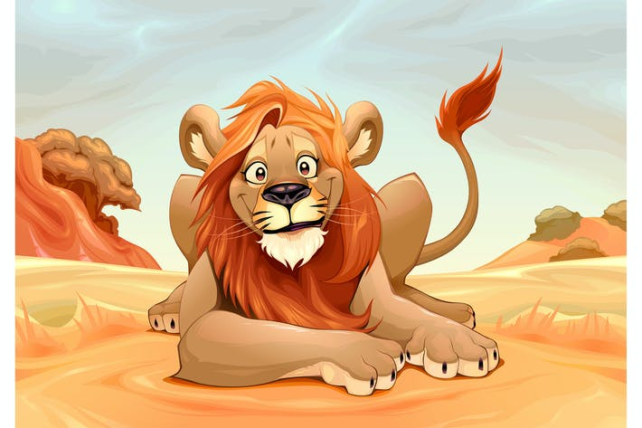 Thumbnail for Lion heureux dans la savane
