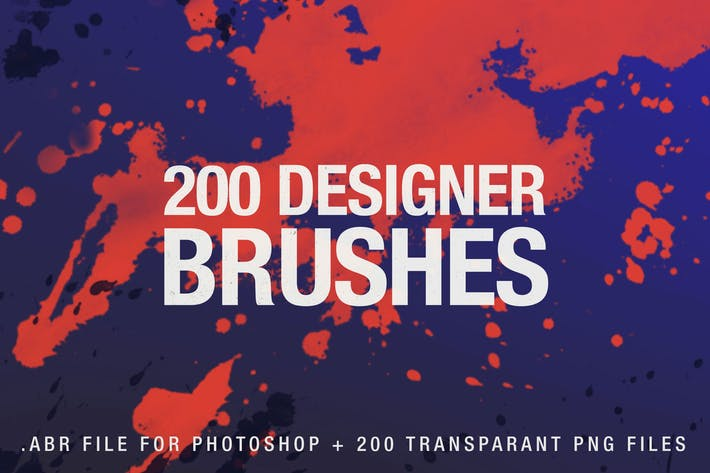 Thumbnail for 200 Designer Brushes for Photoshop