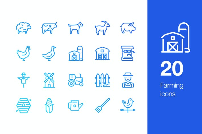 Cover Image For 20 Farming icons