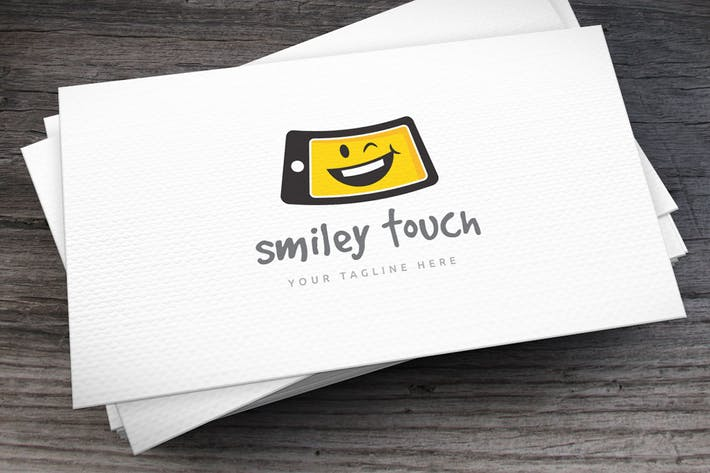 Cover Image For Smiley Touch Logo Template