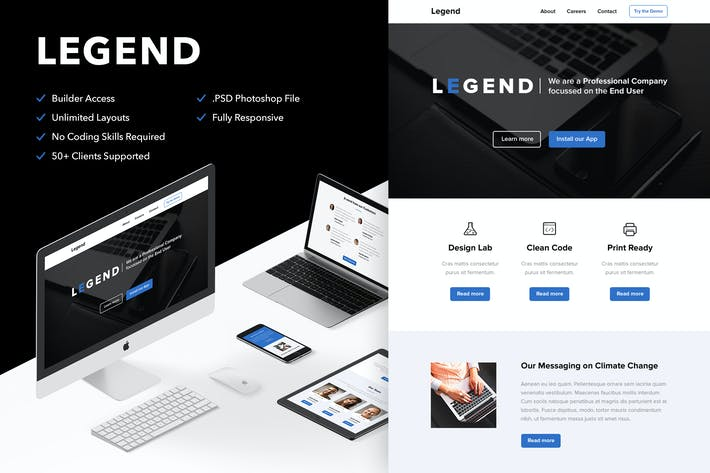 Thumbnail for Legend - Video Email (optional) + Themebuilder