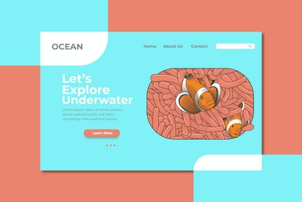 Explore Underwater Landing Page Illustration