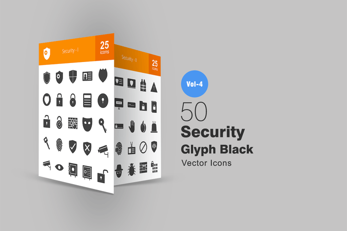 Thumbnail for 50 Security Glyph Icons