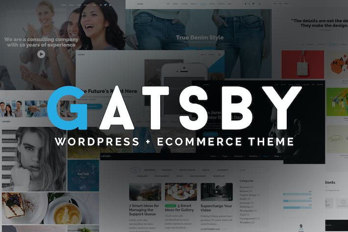 Thumbnail for Gatsby - WordPress + eCommerce Theme
