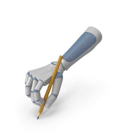 RoboHand sosteniendo un lápiz