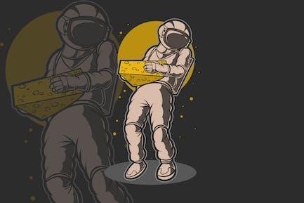 Astro Cheese Vector Illustration