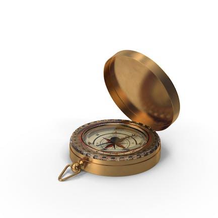 Vintage Compass Open