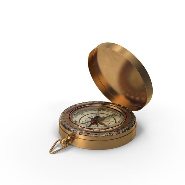 Vintage Kompass offen