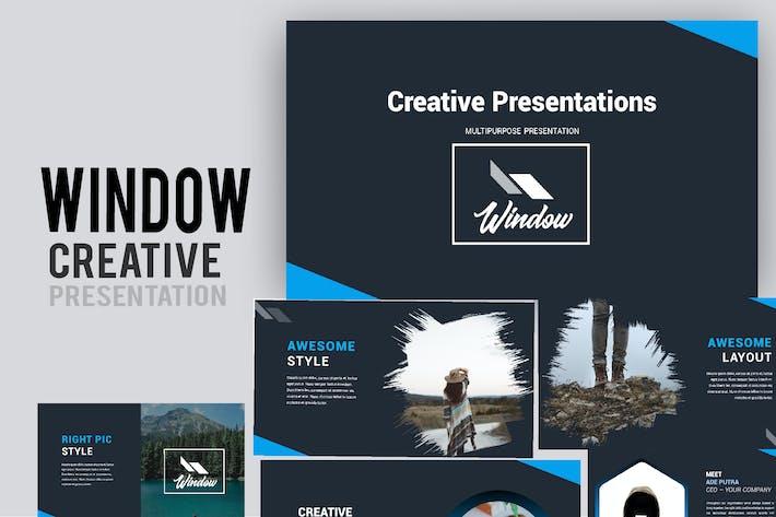 Thumbnail for Окно Творческий Powerpoint