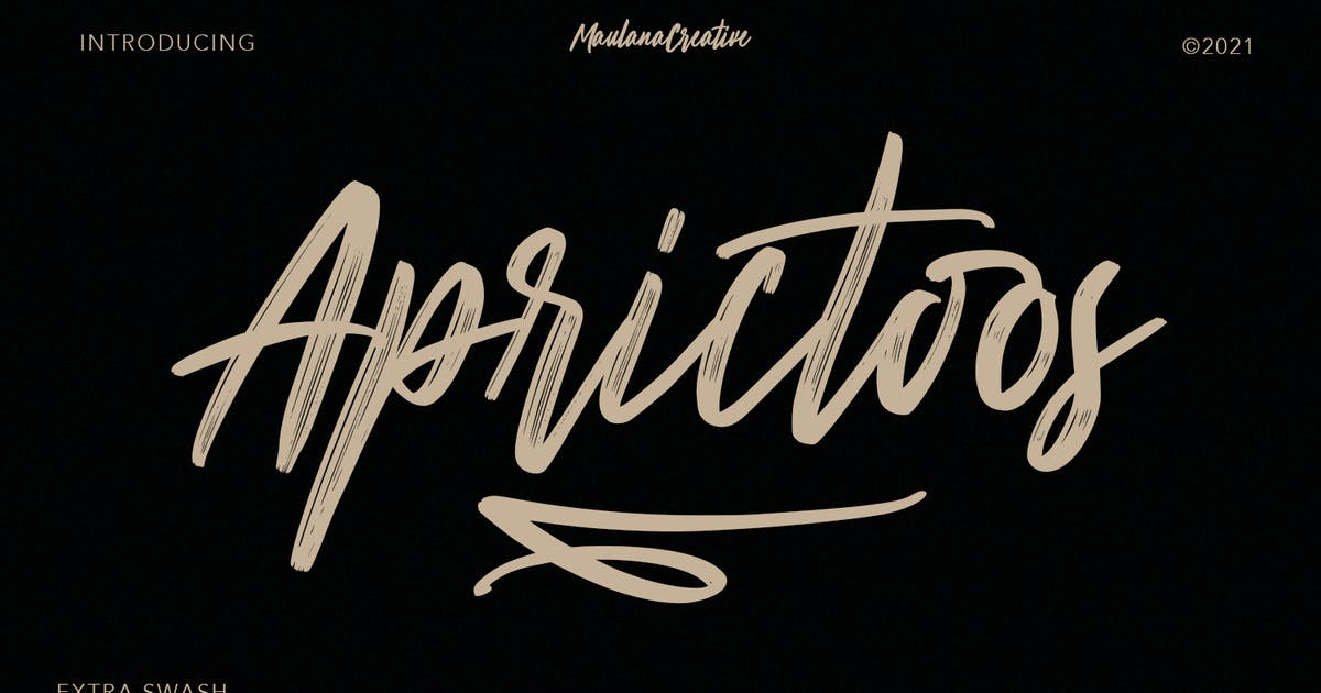 Download Aprictoos Signature Brush Font by maulanacreative