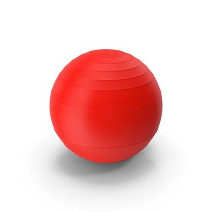 Пилатес мяч красный