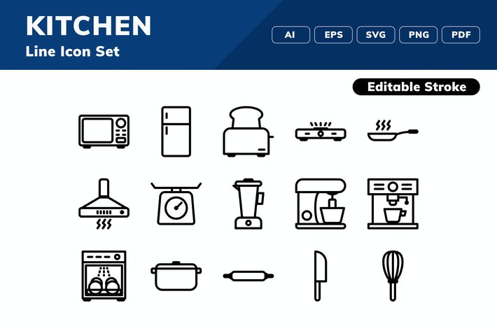 Thumbnail for Kitchen Icon Set