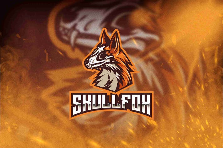 Thumbnail for Skull Fox Esport Logo Template