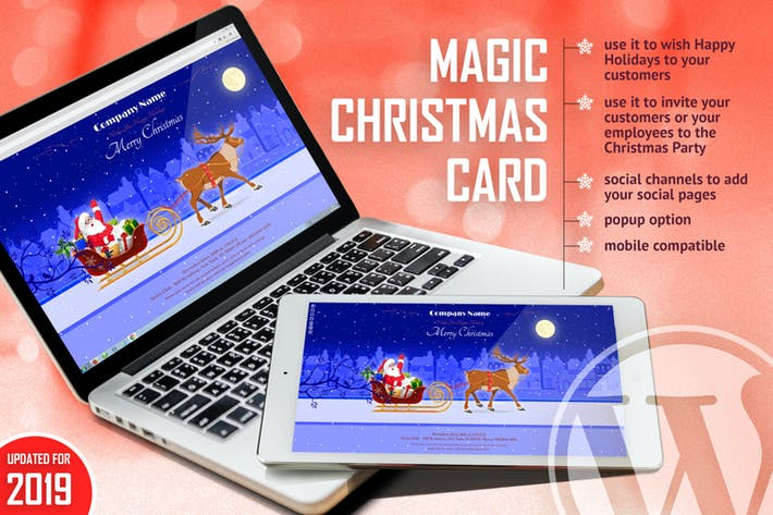 Cover Image For Magic Christmas Card With Animation - WP Plugin