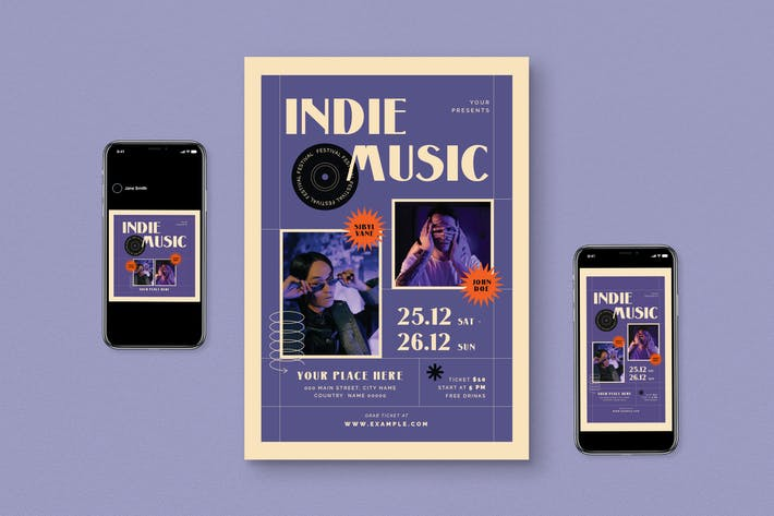 Thumbnail for Indie Music Flyer Pack