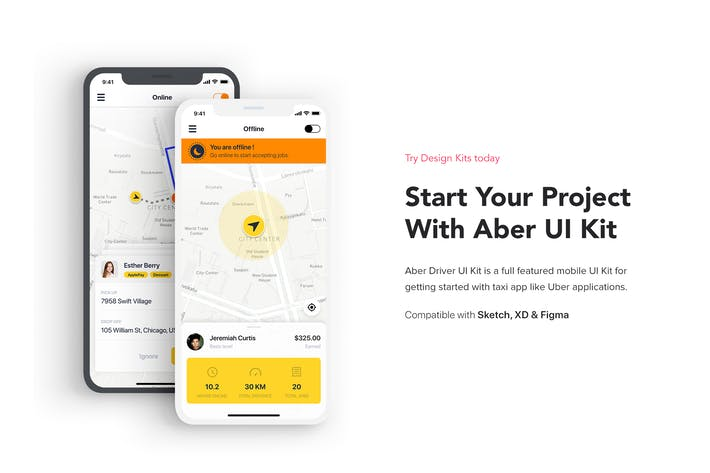 Thumbnail for Aber Driver UI Kit