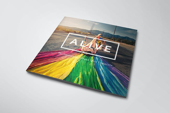 Cover Image For Alive - Square Magazine Template