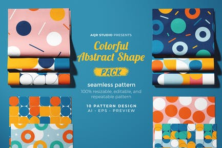 Colorful Abstract Shape - Seamless Pattern