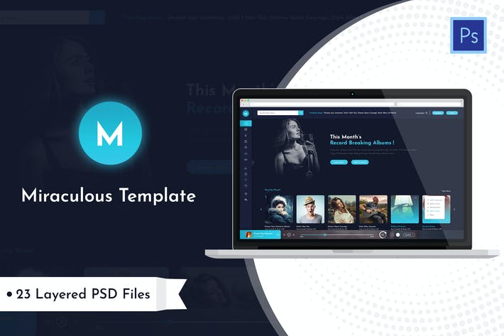 Thumbnail for Miraculous - Music Station PSD Template