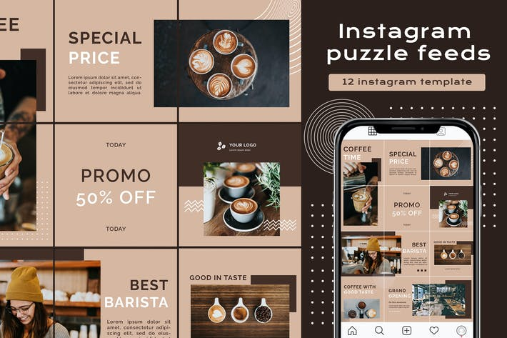 Thumbnail for Instagram Puzzle - Cafe grand opening