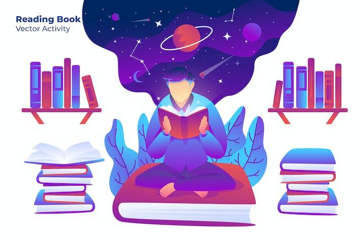 Thumbnail for Reading Book - Vector Illustration