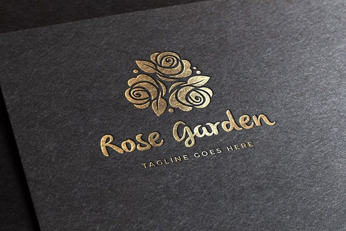 Thumbnail for Rose Garden Logo Template
