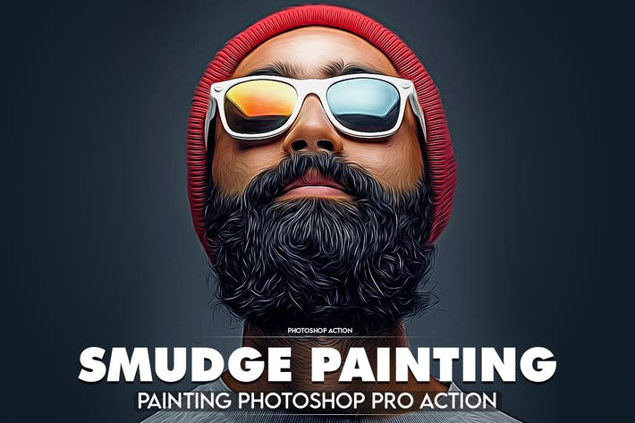 Thumbnail for Smudge Professional Photoshop Action