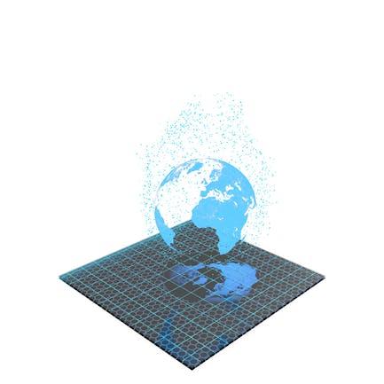 Hologram Earth Planet