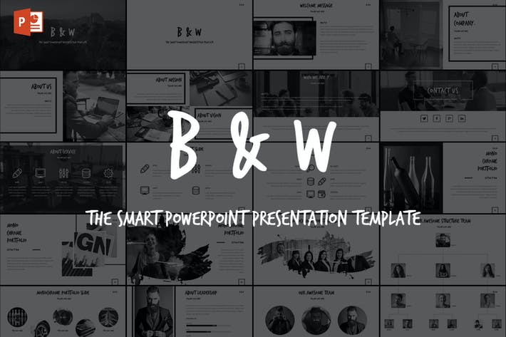 Thumbnail for B&W - Powerpoint Template