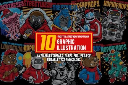 10 Graphic Cartoon Illustration