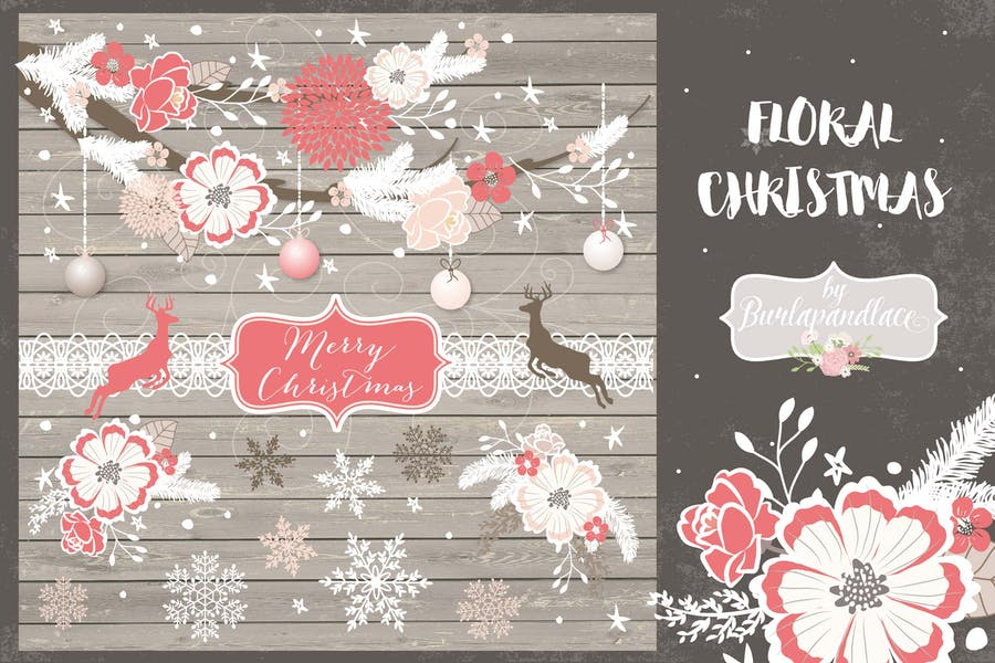 Floral Christmas design