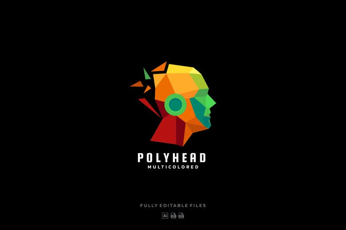 Thumbnail for Poly Head Colorful Logo