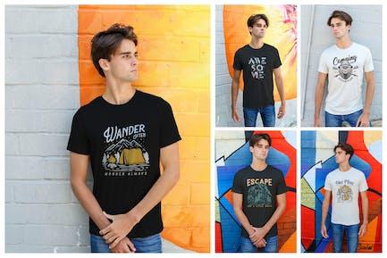 Men Urban T-Shirt Mockups